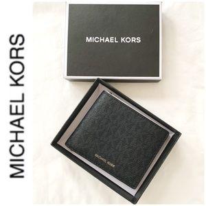 NWT authentic MK monogram wallet black